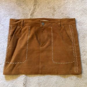 Rebecca Minkoff Suede Mini Skirt- LAST CHANCE
